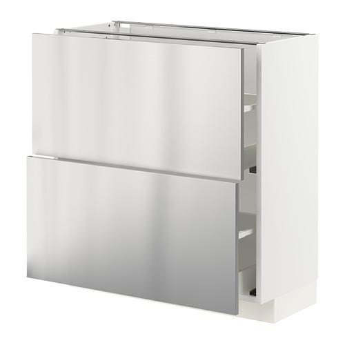 METOD/MAXIMERA kabinet dasar dengan 2 laci