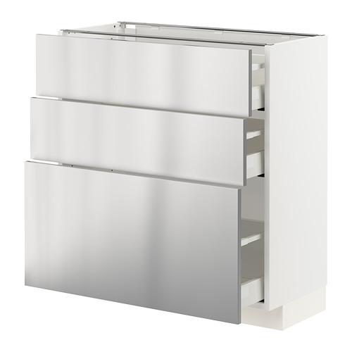METOD/MAXIMERA kabinet dasar dgn 3 laci