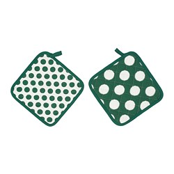 ALVALISA - Pot holder, green/white