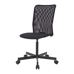 TOBERGET - Swivel chair, Vissle black
