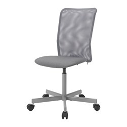 TOBERGET - Swivel chair, Vissle grey