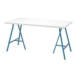 LERBERG/LINNMON - Meja, putih/biru