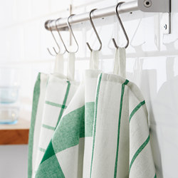 ELLY - Tea towel, white/green
