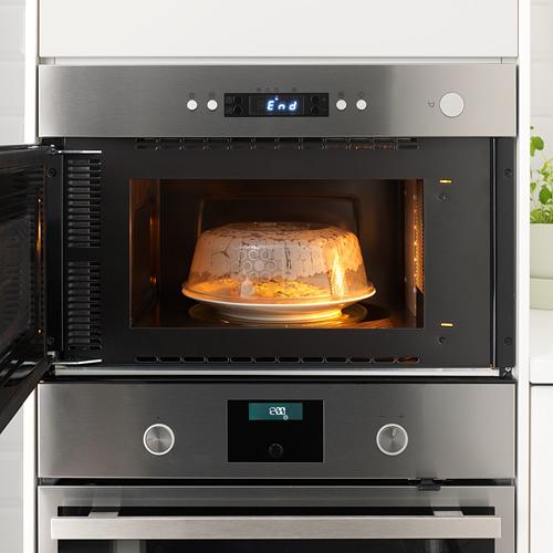 PRICKIG - tutup microwave, abu-abu, 26 cm   IKEA Indonesia - PE657008_S4