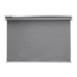 FYRTUR - Block-out roller blind, wireless/battery-operated grey