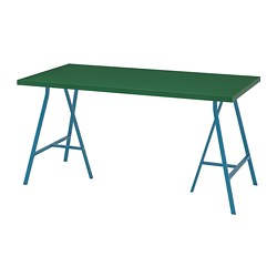 LINNMON/LERBERG - Meja, hijau/biru