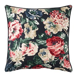 LEIKNY - Cushion cover, black/multicolour