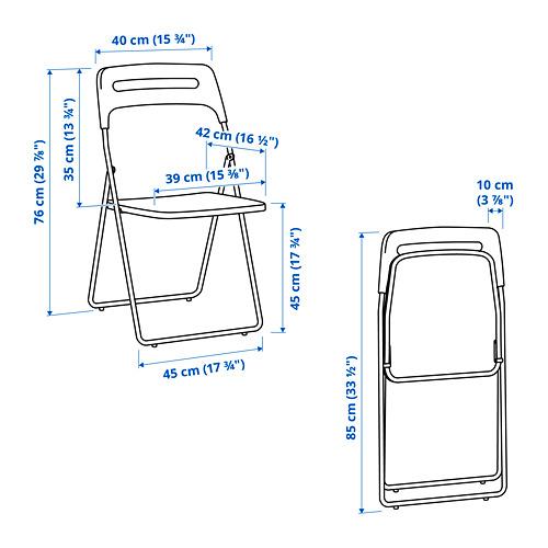 NISSE - kursi lipat, warna perak/putih | IKEA Indonesia - PE821828_S4