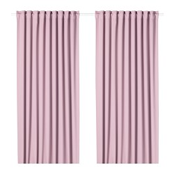 MAJGULL - Room darkening curtains, 1 pair, light pink