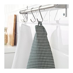 TROLLPIL - Tea towel, white/green