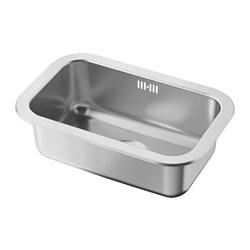 BOHOLMEN - Single-bowl inset sink, stainless steel
