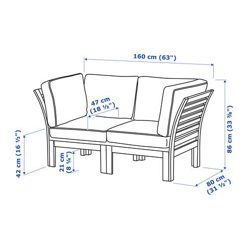 ÄPPLARÖ sofa mdlr dua dudukan, luar ruangan