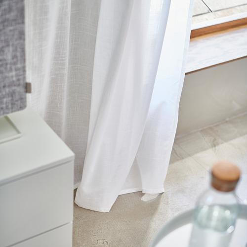 SILVERLÖNN - sheer curtains, 1 pair, white, 145x250 cm | IKEA Indonesia - PH175762_S4