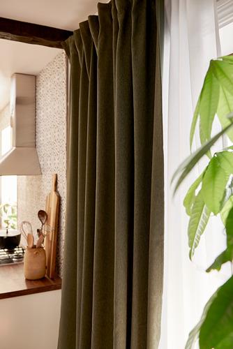BLÅHUVA - block-out curtains, 1 pair, green, 145x250 cm   IKEA Indonesia - PH172388_S4