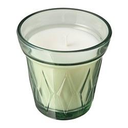 VÄLDOFT - Lilin beraroma dalam gelas, Morning dew/hijau muda, 8 cm