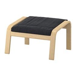 POÄNG - Bangku kaki, veneer kayu birch/Hillared antrasit