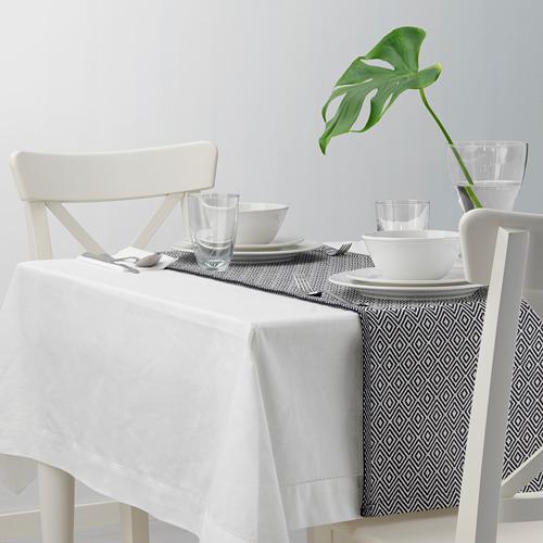 GODDAG - taplak panjang, hitam/putih, 35x130 cm   IKEA Indonesia - PE628921_S4