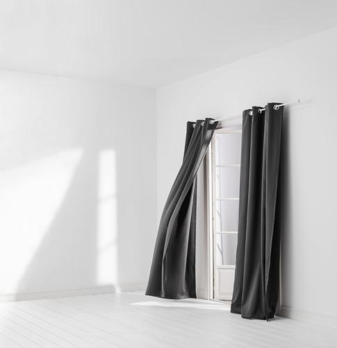 HILLEBORG - gorden anti tembus cahaya, 1 pasang, abu-abu, 145x250 cm   IKEA Indonesia - PH169281_S4