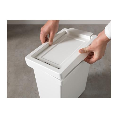FILUR bin with lid