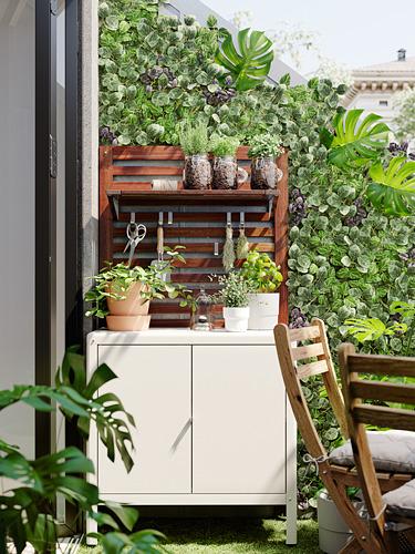 KOLBJÖRN - kabinet dalam/luar ruang, krem, 80x81 cm   IKEA Indonesia - PH176851_S4