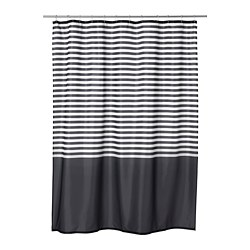 VADSJÖN - Shower curtain, dark grey
