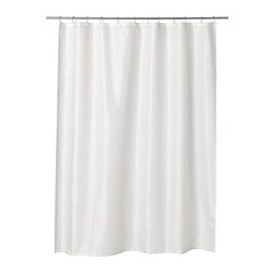 SAXÄLVEN - Shower curtain, white