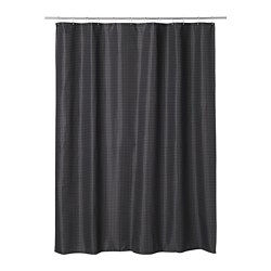 SAXÄLVEN - Shower curtain, anthracite