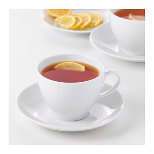VÄRDERA cangkir teh dengan tatakan