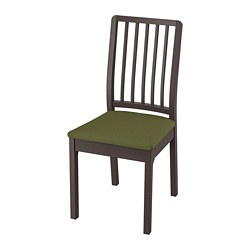 EKEDALEN - Chair, dark brown/Orrsta olive-green