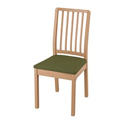 EKEDALEN - Chair, oak/Orrsta olive-green