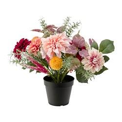 FEJKA - Artificial potted plant, in/outdoor arrangement/Dahlia