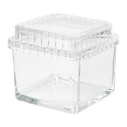 SAMMANHANG - Kotak kaca dengan penutup, kaca bening
