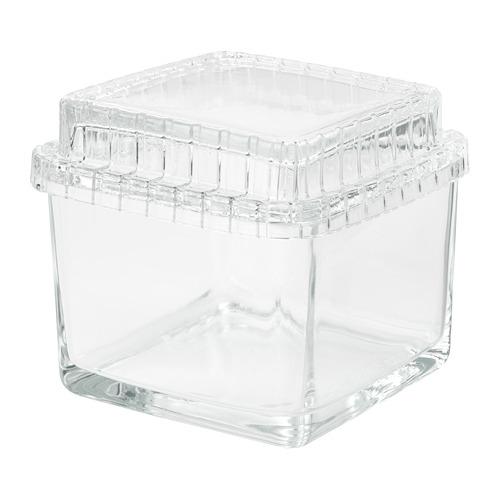 SAMMANHANG kotak kaca dengan penutup