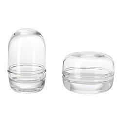 SAMMANHANG - Kubah kaca dengan dasar, set isi 2, kaca bening