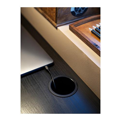 MICKE - meja, hitam-cokelat, 105x50 cm   IKEA Indonesia - PH165483_S4