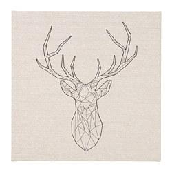 PJÄTTERYD - PJÄTTERYD, gambar, Black deer, 56x56 cm