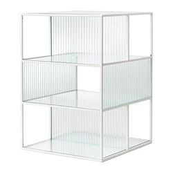 SAMMANHANG - Kotak display, putih/kaca