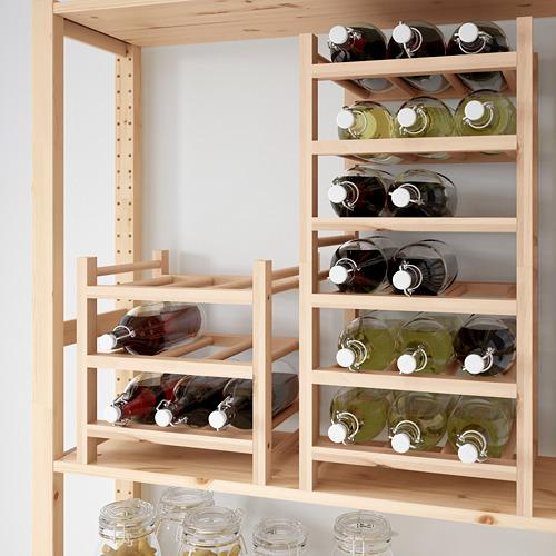 HUTTEN rak untuk 9 botol anggur
