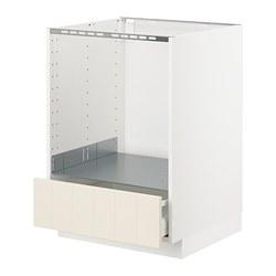 METOD - Kab dasar untuk oven dg laci, putih Maximera/Hittarp putih pudar