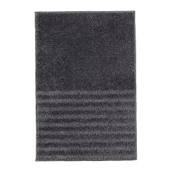 VINNFAR - Bath mat, dark grey
