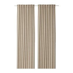AINA - Curtains, 1 pair, beige
