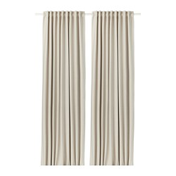 VILBORG - Curtains, 1 pair, beige