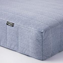VADSÖ - Sprung mattress, extra firm/light blue