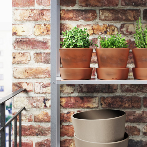 INGEFÄRA - plant pot with saucer, outdoor/terracotta, 12 cm | IKEA Indonesia - PE615032_S4