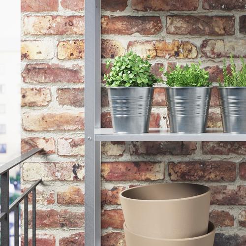 SOCKER - pot tanaman, dalam/luar ruang/galvanis, 12 cm   IKEA Indonesia - PE594838_S4