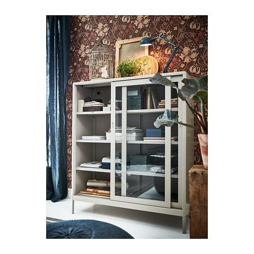 IDÅSEN kabinet dengan pintu geser kaca