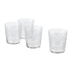 MUSTIGHET - MUSTIGHET, gelas, berpola/putih, 30 cl