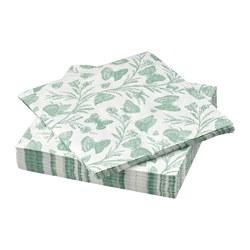 MUSTIGHET - Paper napkin, butterfly patterned