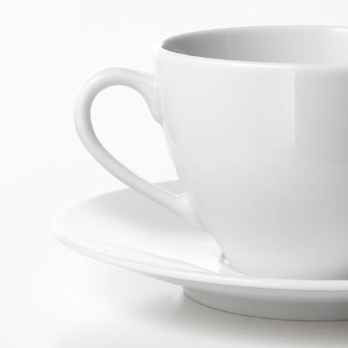 VÄRDERA coffee cup and saucer