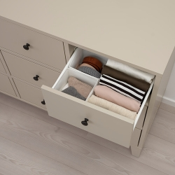 BRYGGJA - Chest of 9 drawers, beige